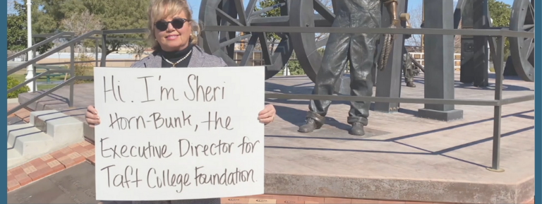 Sheri Horn-Bunk, the Executive Director for Taft College Foundation